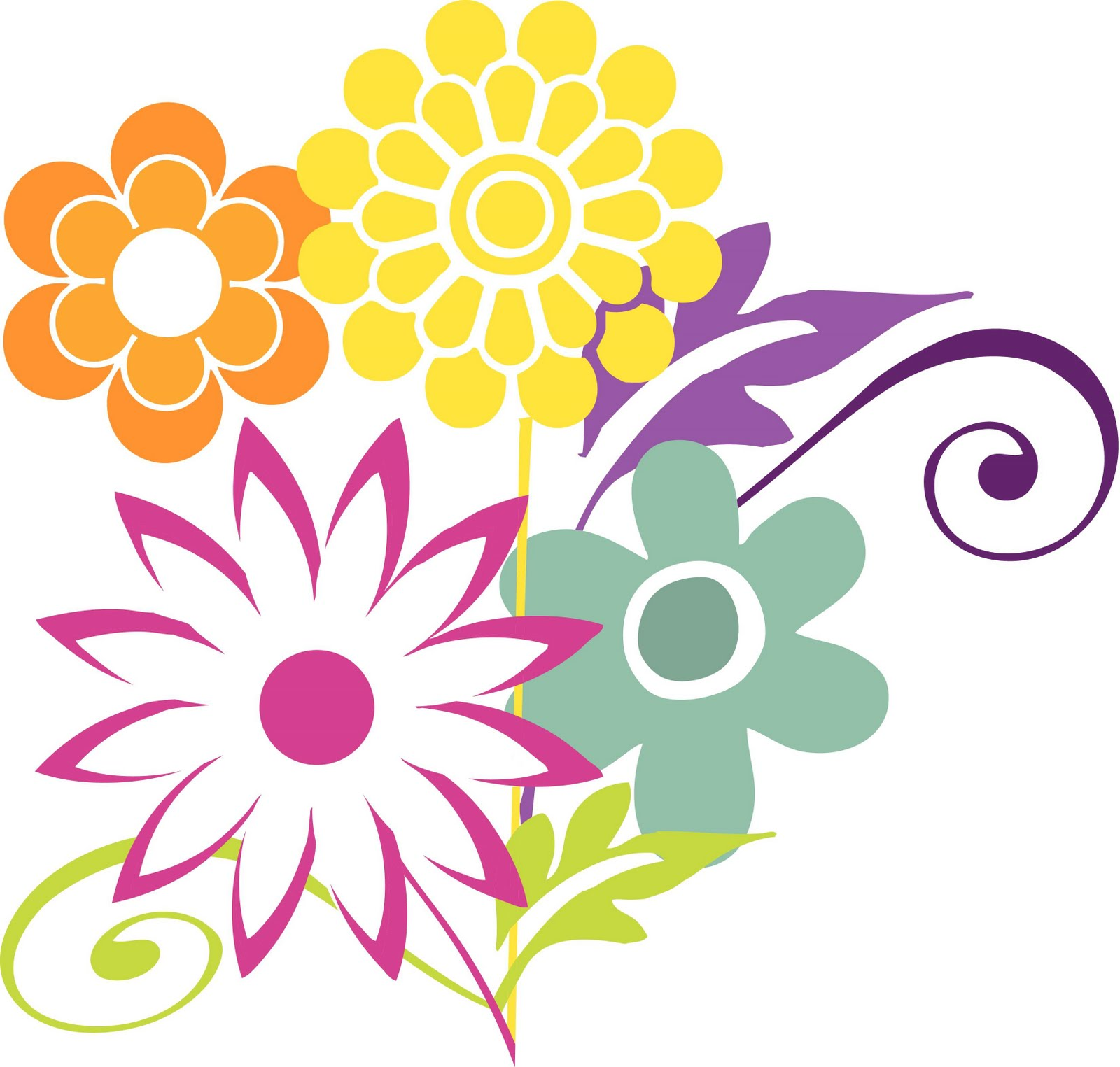 1600x1525 Free Clipart April Flowers Clipart