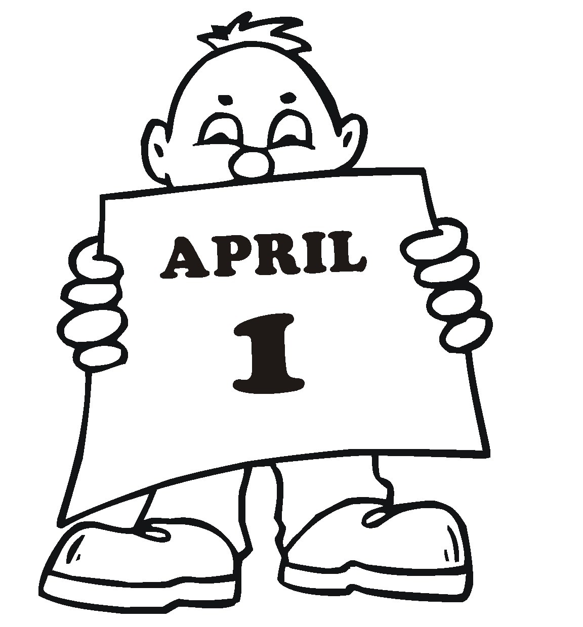1152x1240 April Fools Day 2017 Clipart, Sketch Amp Drawing Activities Ideas