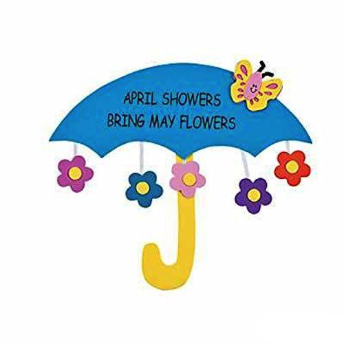 500x500 April Showers Bring May Flowers With Kids Free Clipart