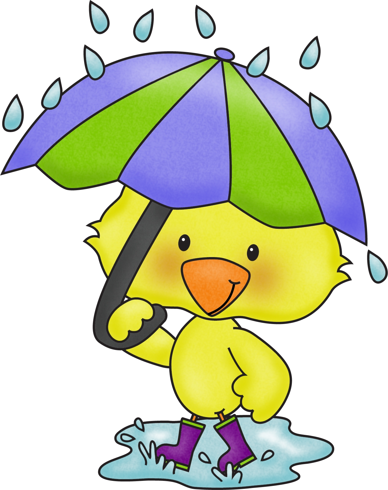 April cute. Shower clipart free download