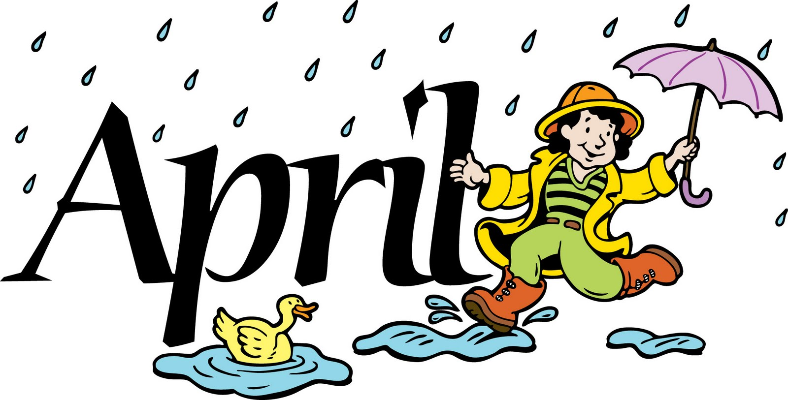 1600x813 Shower Clipart April Month