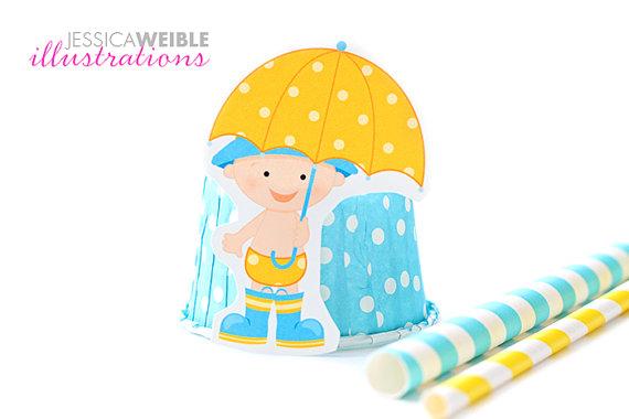 570x380 April Shower Baby Boy Cute Digital Clipart Baby Boy