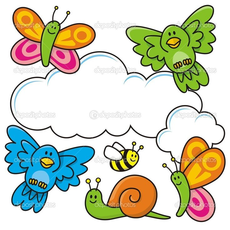 736x736 Cartoon Spring Clipart