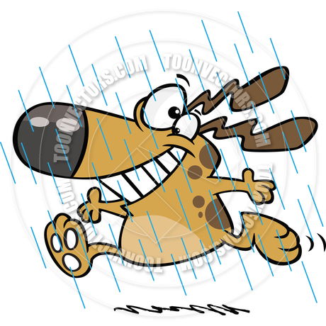 460x460 Cartoon Dog April Showers By Ron Leishman Toon Vectors Eps