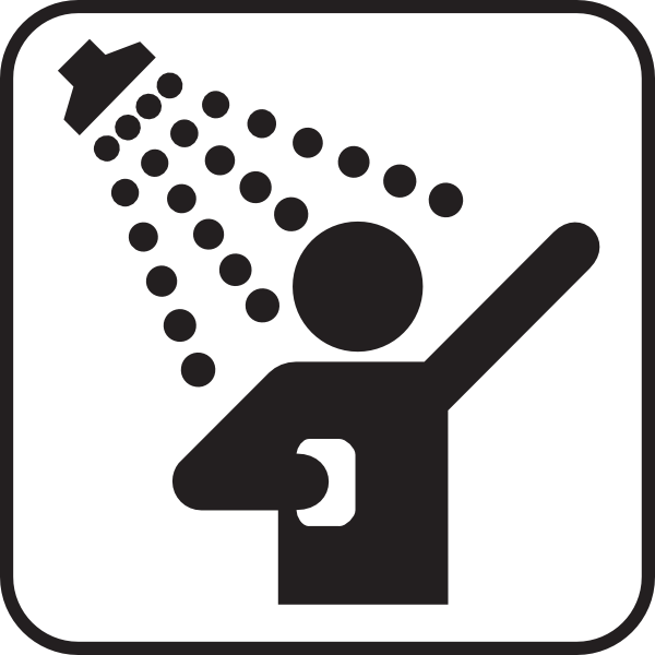 600x600 Shower Clipart Black And White
