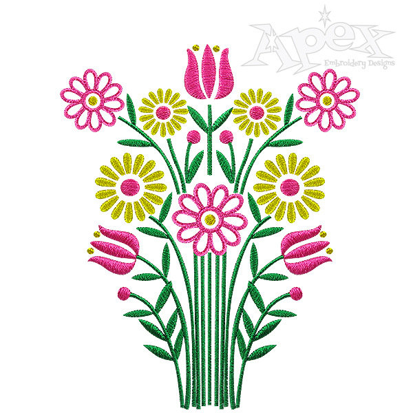 600x600 April Showers Embroidery Design
