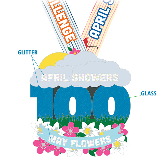 550x536 April Showers May Flowers 100 Mile Challenge