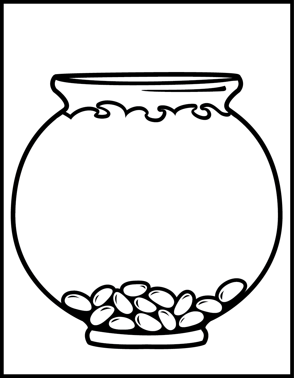 992x1275 Fish Clip Art Black And White Fish Bowl Clip Art Black White