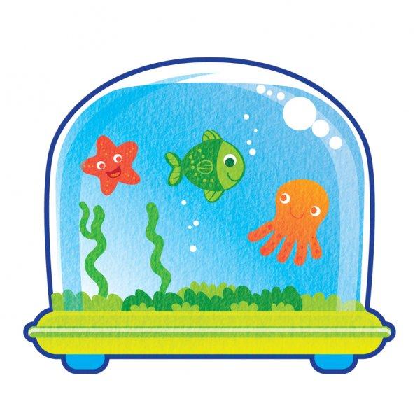 600x600 Aquarium Clipart Fish Drawing