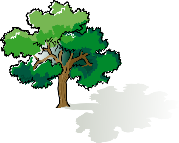 600x478 Oak Tree Clip Art