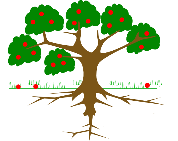 600x476 Tree three Roots Clip Art