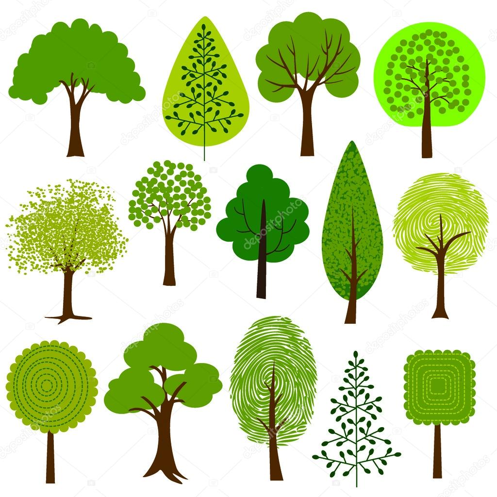 1024x1024 Trees clip art — Stock Vector © scrapster