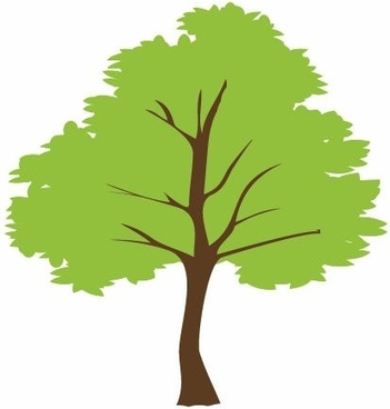 351x368 tree vector image