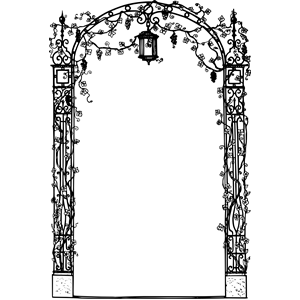 300x300 Decorative Arch Frame Clipart, Cliparts Of Decorative Arch Frame