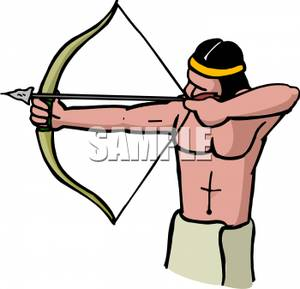 300x289 India Clipart Archery