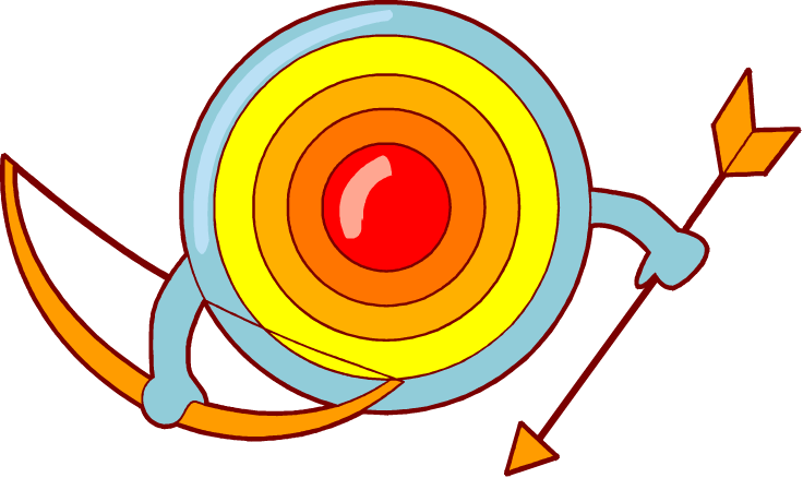 736x438 Free Cartoon Archery Target Clip Art Image From Free Clip
