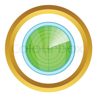 320x320 Radar Screen Symbol, Clip Art With Targets. Radar Icon. Stock