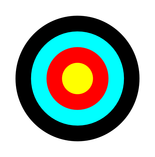 588x597 Round Target Clip Art