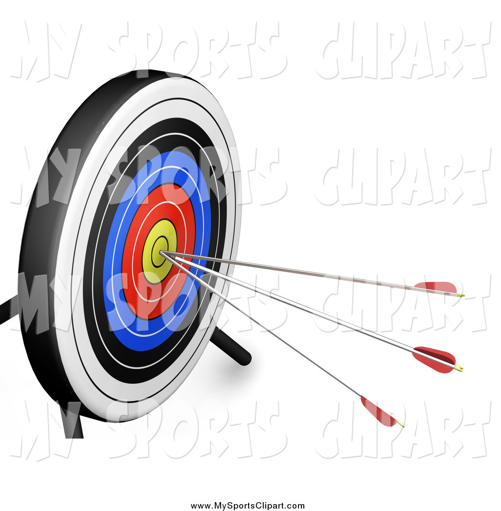 1024x1044 Sports Clip Art Of A 3d Target Board With Three Arrows In