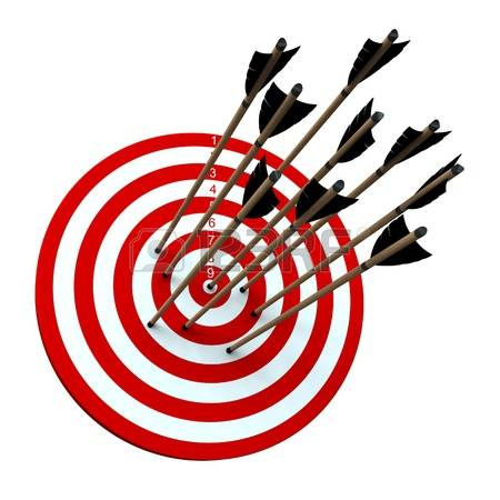 450x450 Target And Arrow Clipart