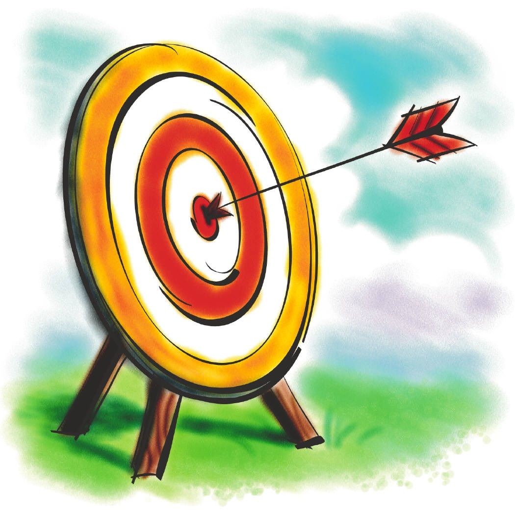 1050x1050 Target With Arrow Clipart