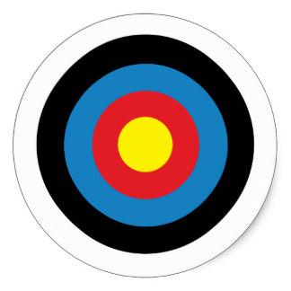 324x324 Archery Stickers Zazzle.co.uk