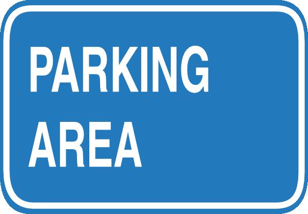600x416 Blue Blank Parking Sign Clip Art