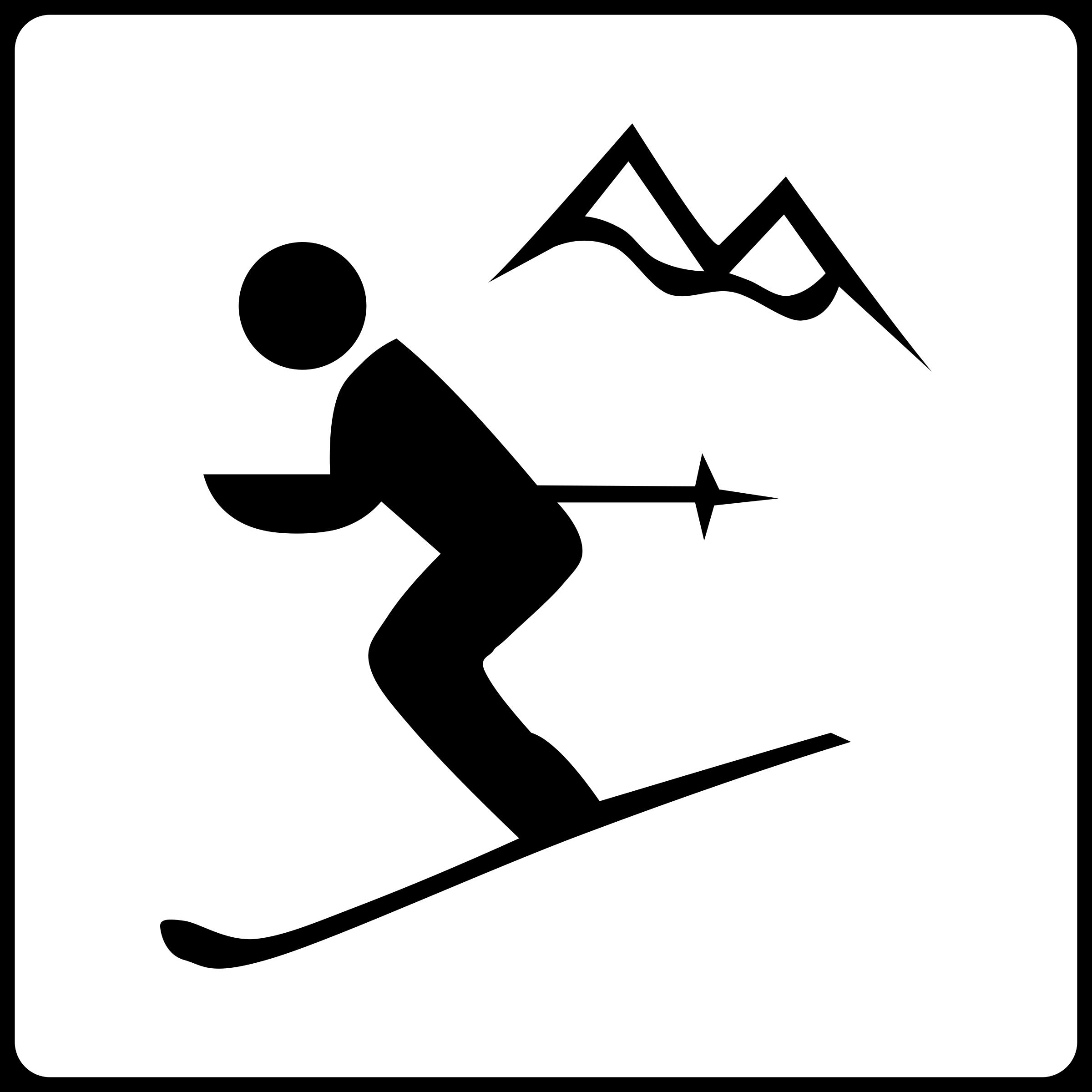 2400x2400 Clipart Ski Clipartmonk