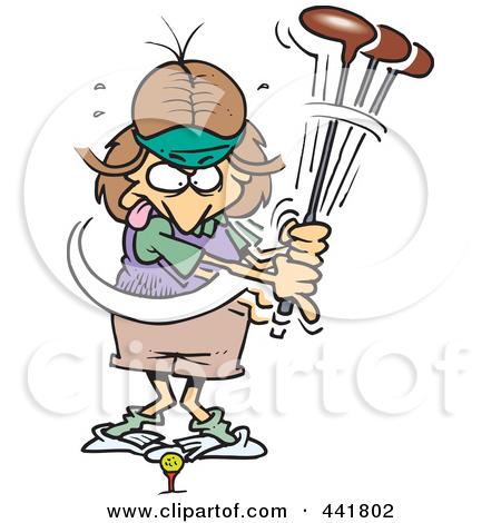 450x470 Funny Ladies Golf Clip Art