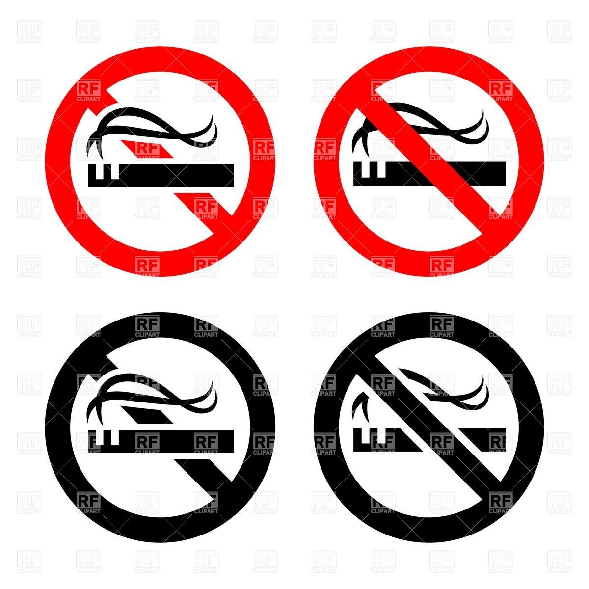 1200x1200 No Smoking Area Symbols Royalty Free Vector Clip Art Image