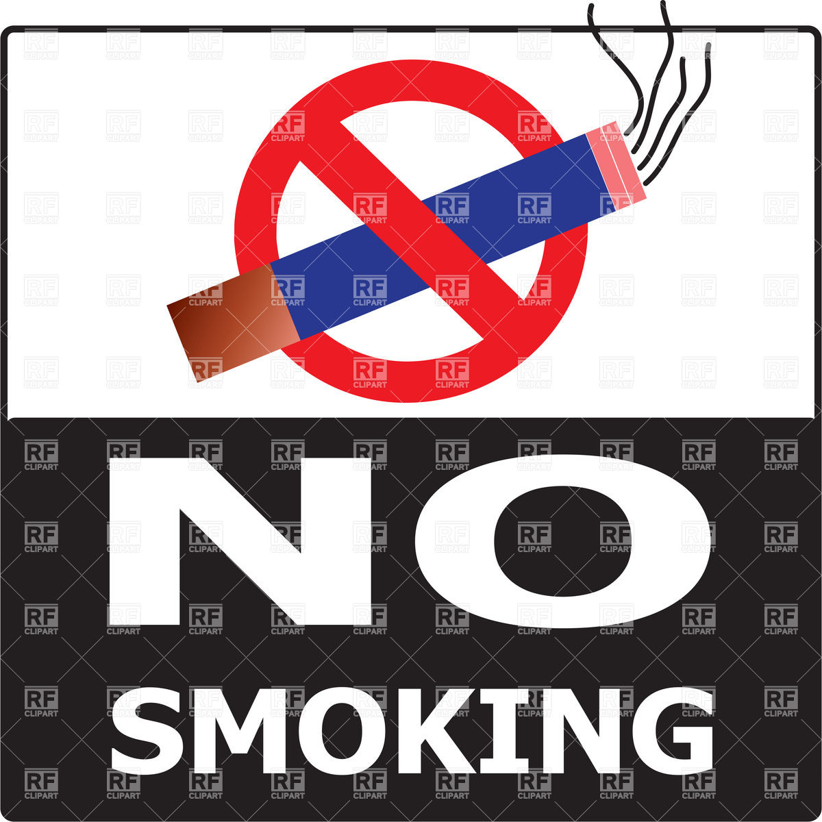 1200x1200 No Smoking Cigarette Area