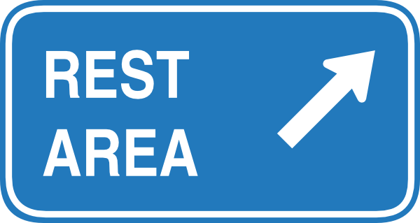 600x319 Rest Area Highway Sign Clip Art