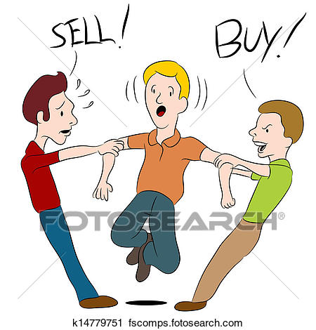 450x470 Clipart Of Buy Sell Argument K14779751