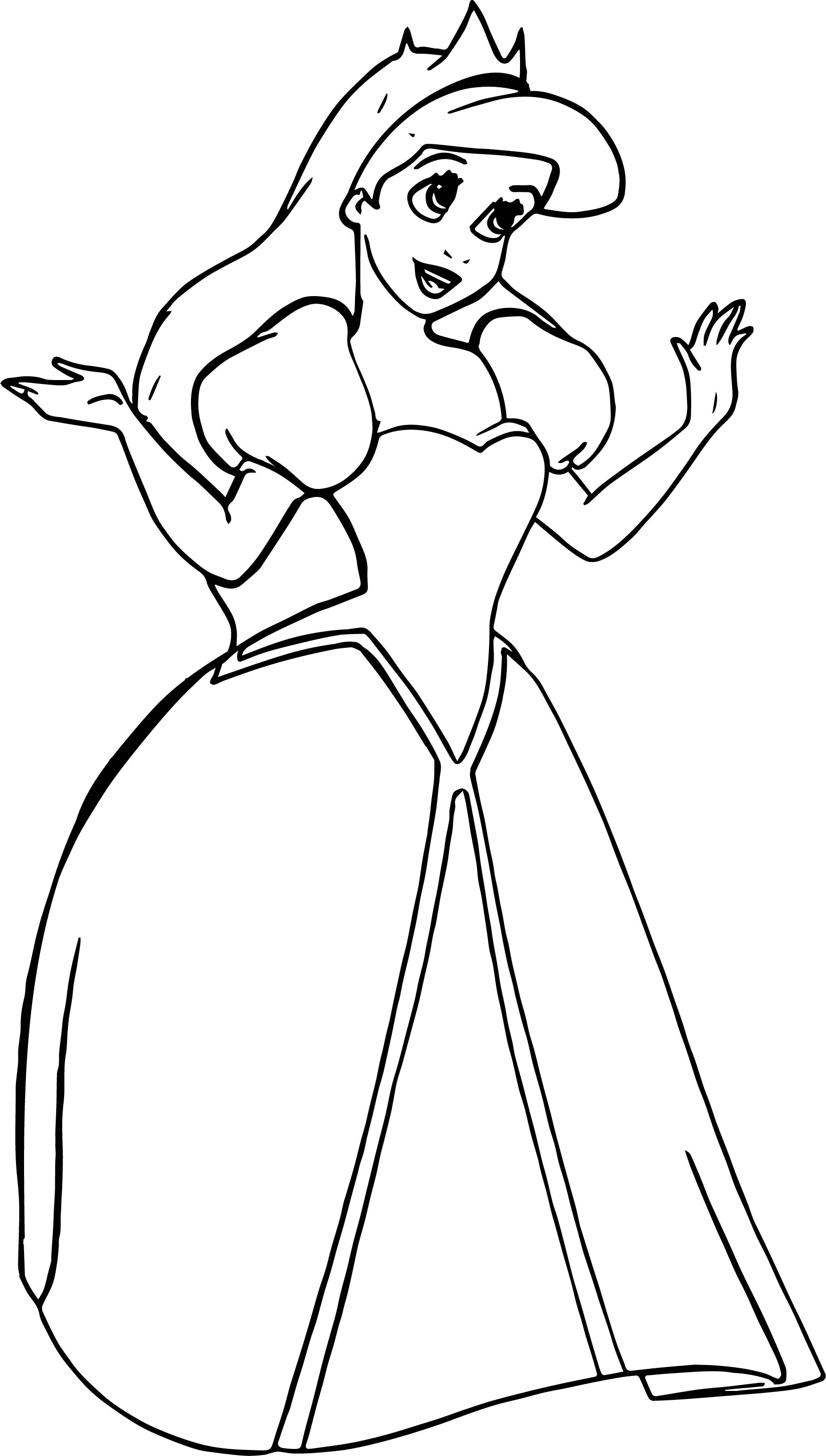 Ariel Coloring Pages Free download