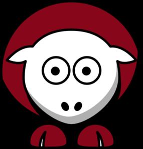 285x298 Sheep 3 Toned Arizona Cardinals Team Colors Clip Art