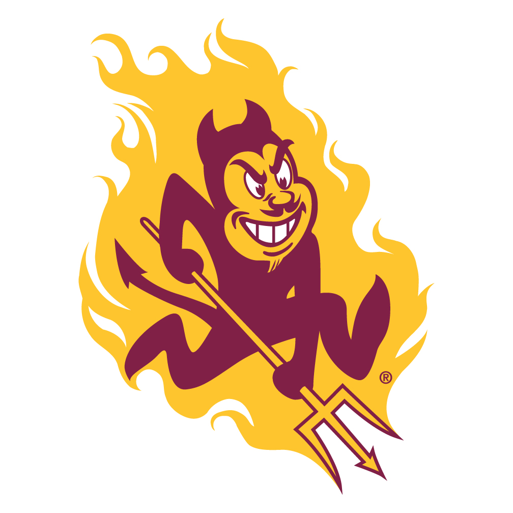 1008x1008 Arizona State Sun Devils Tire Cover With Trident Logo