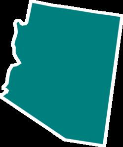 249x298 Arizona Teal State Clip Art