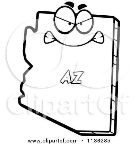450x470 Black And White Arizona Clipart