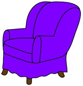 288x300 Arm Chair Clipart Image Clip Art Illustration Of A Purple Arm