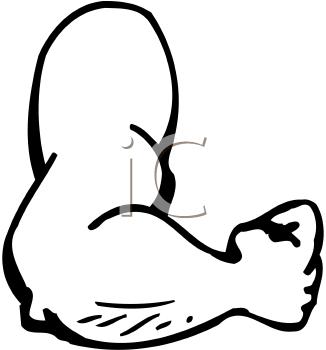 326x350 Cartoon Muscle Arm Clipart