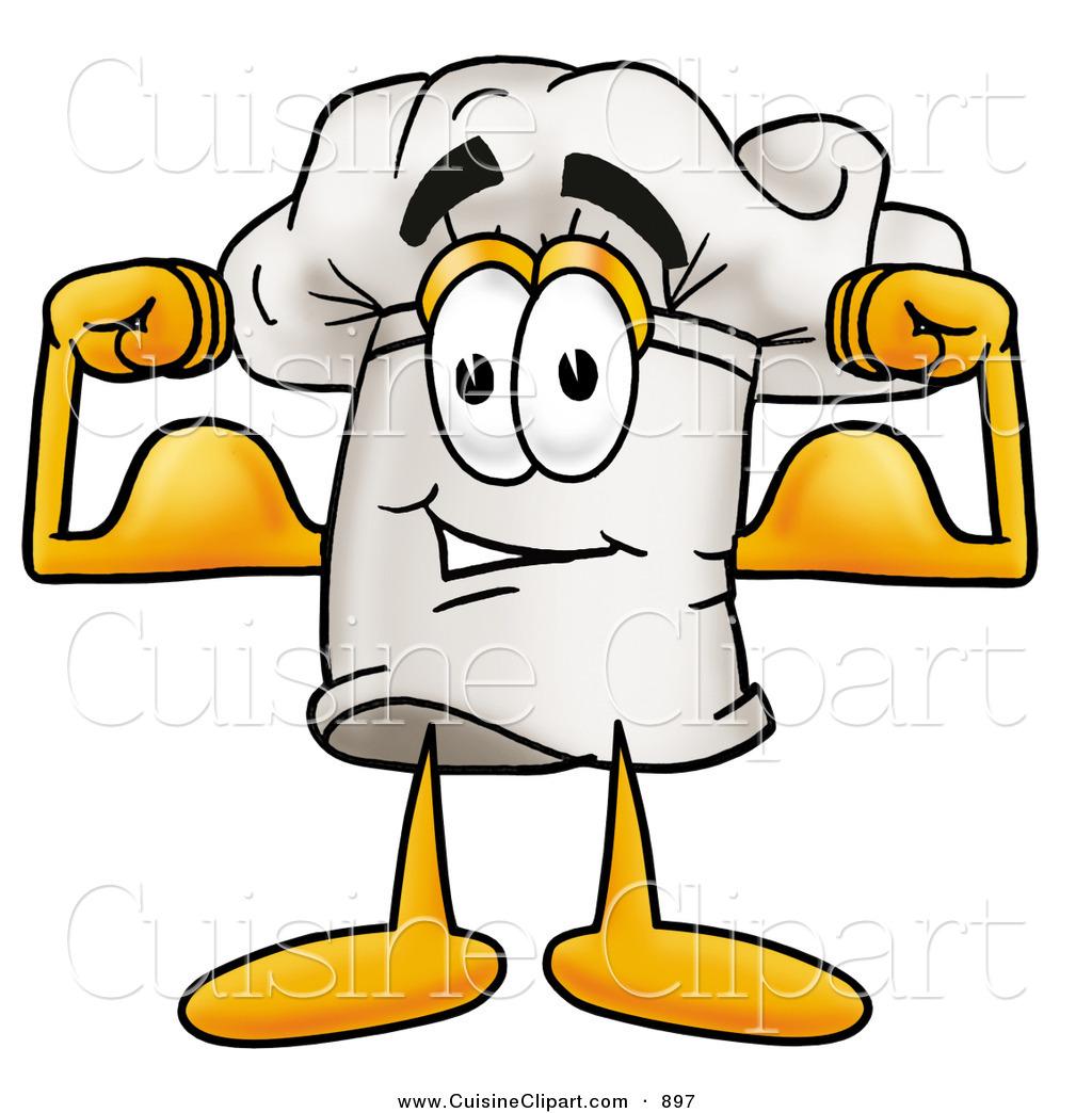 1024x1044 Cuisine Clipart Of A Chefs Hat Mascot Cartoon Character Flexing