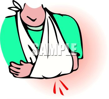 350x316 Royalty Free Clip Art Image Person With Their Arm In A Sling