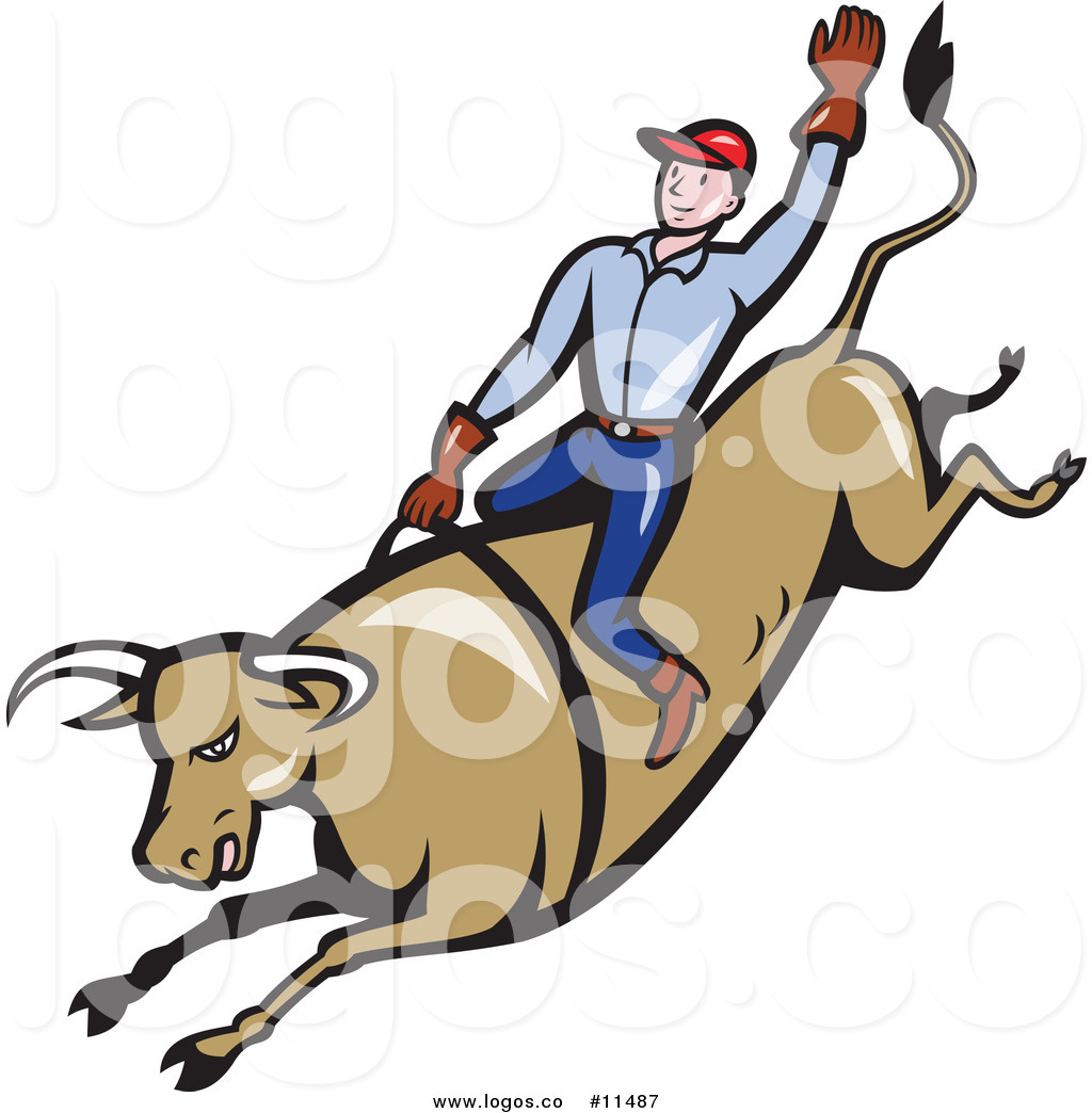 1024x1044 Royalty Free Clip Art Vector Cowboy Riding A Rodeo Bull With One