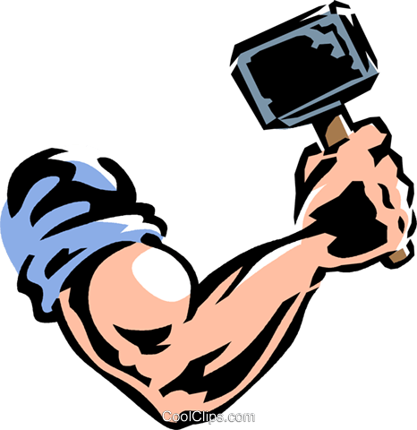 466x480 Arm And Hammer Royalty Free Vector Clip Art Illustration Vc061328