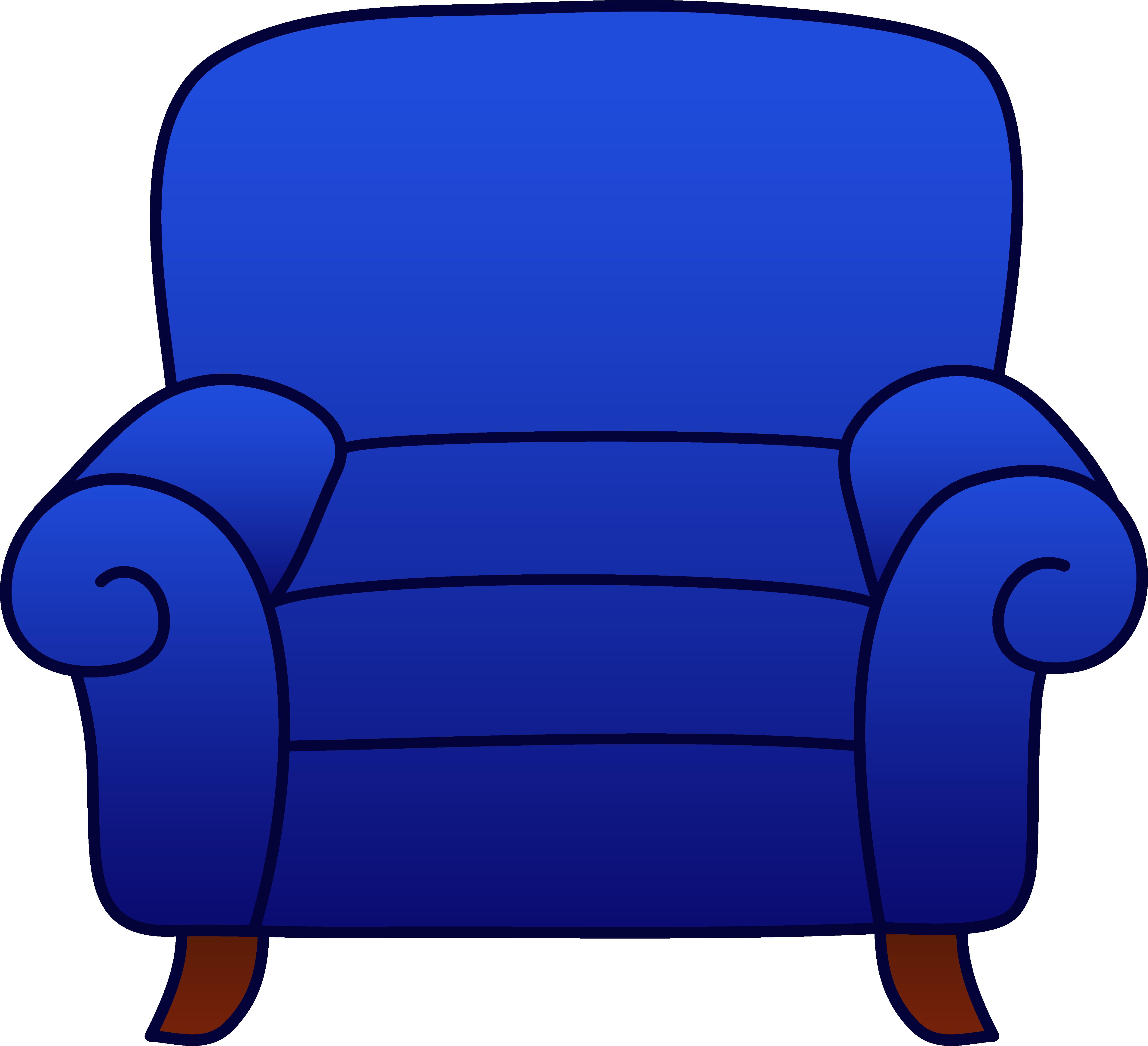 4966x4527 Blue Armchair Clipart