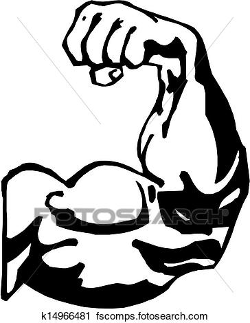 364x470 Clipart of Man#39s Arm k6012054