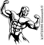178x179 Flexing arm Clipart Royalty Free. 394 flexing arm clip art vector