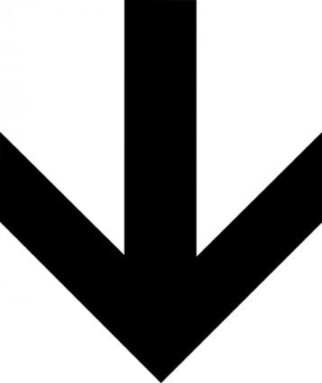 357x425 Down Arrow Clip Art Vector Clip Art Free Vector Free Download