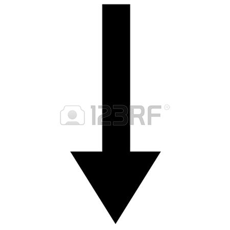 450x450 Doodle Arrow Clipart Pointing Down, Free Doodle Arrow Clipart