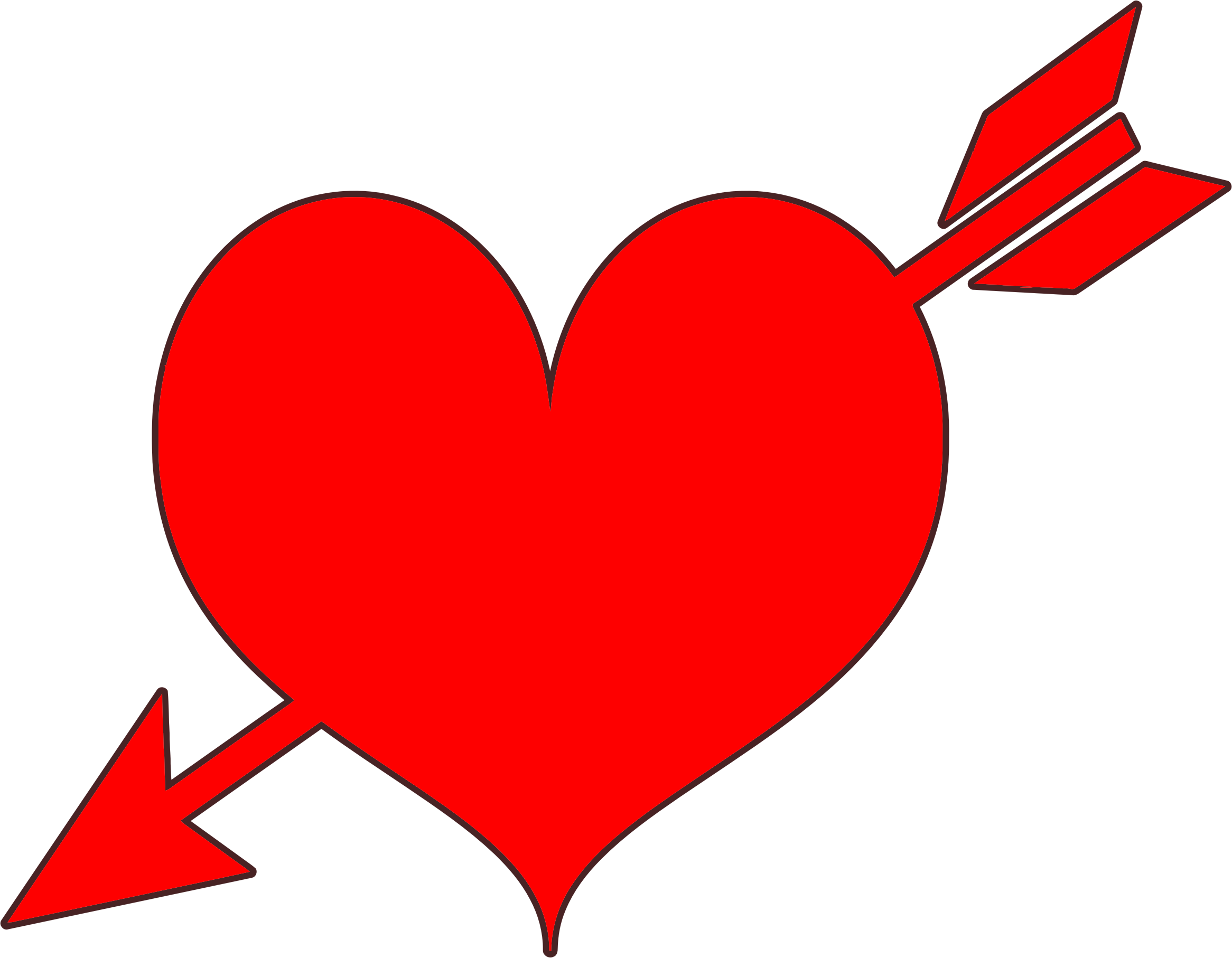 Arrow With Heart Clipart | Free download on ClipArtMag